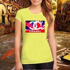 ChanelLogoWallpaper  T Shirt Printed T Shirt Women T by ClickCling, $15.99