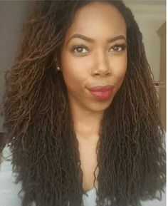 Beautiful Loc'd Queen...Try Many More Loc'd Style Here: http://www.naturalhairmag.com/?s=locs IG:@lea_goldsmith  #naturalhairmag