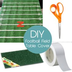 Grab your Gridiron gang and watch the game with this themed table cover #football #NFL #DIY #sportsweek