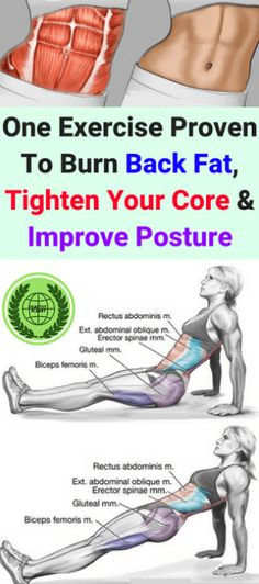 This 1 Exercise Proven To Burn Back Fat, Tighten Your Core & Improve Posture! – All What You Need Is Here This 1 Exercise Proven To Burn Back Fat, Tighten Your Core & Improve Posture! Burn Back Fat, Burn Belly Fat, Lose Belly, Flat Belly, Flat Tummy, Belly Fat Burner, Fitness Workouts, Ab Workouts, Fitness Motivation