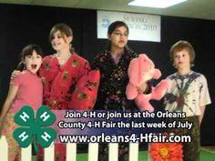 The Orleans County 4H Fair This a great fair showcasing 4H.