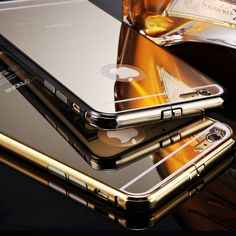 iPhone 5 5S 6 Handmade Mirror Chrome Gold Silver by CellCaseAccess