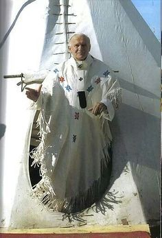 St. JP II the Great in Indian clothing