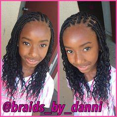 Crochet braid styles 789396640911695376 - Braids Source by khadydiatougueye Box Braids Hairstyles, Lil Girl Hairstyles, Girls Natural Hairstyles, Natural Hairstyles For Kids, Kids Braided Hairstyles, My Hairstyle, Individual Braids Hairstyles, Little Girl Box Braids, Kids Box Braids