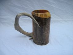 Medieval mug, wooden beer stein, SCA tankard, rustic mug, cabin in the woods decor, for the person who has everything
