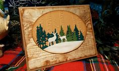 Gina Marie 3 piece scenery dies (deer die shown)