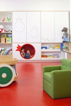 Kfar Shemaryahu Kindergarden in Israel designed by Sarit Shani Hay | Cubby for hiding