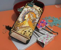 APHONSE MUCHA GIRL for iPhone 4/4s/5/5s/5c, Samsung Galaxy s3/s4 case