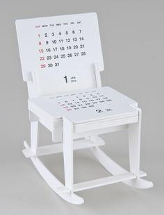 Funny - Rocking chair sculpture calendar 2012 by Katsumi Tamura, mcachicagostore