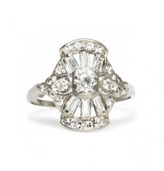 "vintage edwardian era engagement ring- ""Wetherby"" by Trumpet & Horn http://trumpetandhorn.com/wetherby.html"