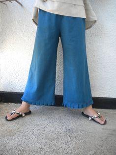wide leg linen pant knickers bloomers pleated by EcoFriendlyForU