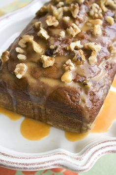 pumpkin banana bread with pumpkin glaze  ...<3