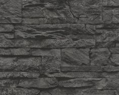 abc behang.nl zwart natuursteen vlies behang  28
