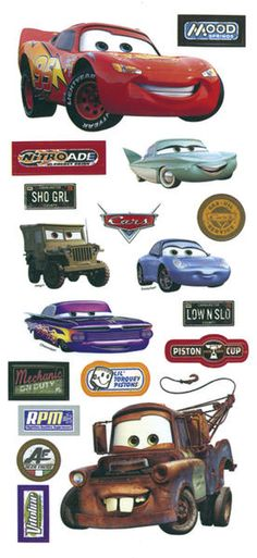 Disney Cars Stickers/Borders Packaged   Pixar Cars movie stickers!