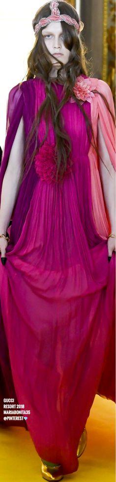 Gucci Resort 2018 Collection Fashion Moda, Pink Fashion, Fashion 2018, Fashion Trends, Armani Prive, Elie Saab, Mcqueen, Prada, Valentino