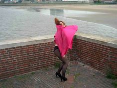 Wind Blown Skirts, Wind Skirt, Wind Cartoon, Hair In The Wind, Skirt Images, Windy Weather, Satin Slip, Pleated Skirt, Mario