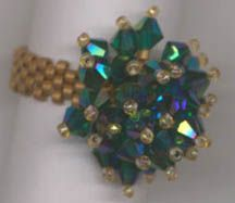 PETITE BLING BLING RING Pattern at Sova-Enterprises.com Lots of free beading patterns and tutorials on this site!