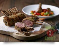 Herb Crumbed Rack of Lamb with Steamed Vegetables