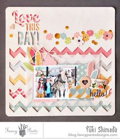 This layout was designed by Yuki Shimada and used the Burlap & Bouquets collection from Fancy Pants Design.