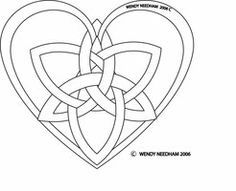 Triple Celtic knot Heart by Dinayarose on deviantART Celtic Symbols, Celtic Art, Celtic Heart Knot, Celtic Knots, Animal Tattoos, Skull Tattoos, Sleeve Tattoos, Wing Tattoos, Embroidery Patterns