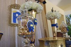Royal Little Prince Baby Shower | CatchMyParty.com