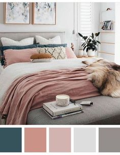 12 beautiful bedroom color schemes that will give you inspiration for your next bedroom remod. - 12 beautiful bedroom color schemes that will give you inspiration for your next bedroom remodel – - Next Bedroom, Dream Bedroom, Home Decor Bedroom, Diy Bedroom, Trendy Bedroom, Blush Bedroom Decor, Feminine Bedroom, Master Bedrooms, Bedroom Modern