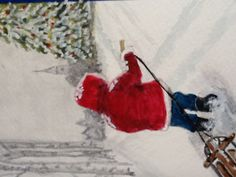 Christmas Card.  Original Watercolor. 2012