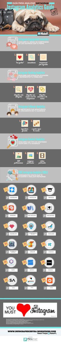Guía para analizar Instagram #infografía #infographic #SocialMedia