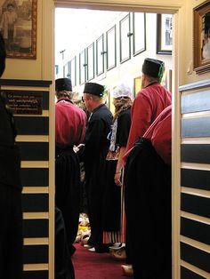in traditional dutch costume, via Flickr. #NoordHolland #Volendam