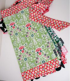 apron tutorial; fat quarter and 1/2 yd.