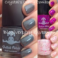 Less than 24hrs to enter!!! Crystal's Crazy Combos: Dollish Polish Blogiversary Giveaway!