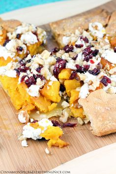 Butternut Squash and Goat Cheese Galette.  I think this would be a nice Thanksgiving appetizer.