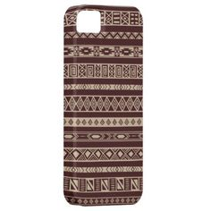 Tribal ethnic pattern iPhone 5 case from Zazzle.com