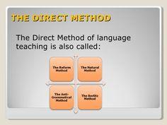 Image result for direct method Direct Method, Language, Teaching, Education, Esl, Image, Science, Lyrics, Languages