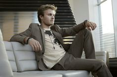 Nico Rosberg - like the color of his suit