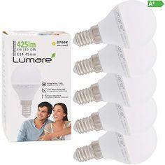5 Stück LED Kühlschrankbirne 2,5 Watt E14 Leuchte 170 Lumen Lampe Kleinlampe