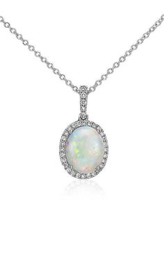 Opal and Diamond Pendant | Click for your chance to win a $1000 gift card from #BlueNile!