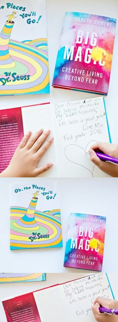 Teacher Appreciation Graduation Book Gift Idea. Have kids write a special message inside a meaningful book for teachers.