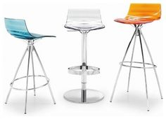 Lu0027Eau Barstool Calligaris: Lu0027Eau Barstool And Piston Adjustable Barstool By  Calligaris