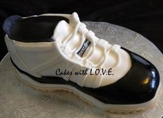 Tennis Shoe Cake, find a full tutorial on how to make it in my fb page: www.facebook.com/mycakeswithlove