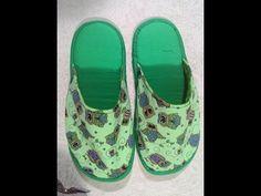 Como Fazer Pantufa para Adulto de Tecido Sem Costura - Artesanato DIY - YouTube Slipper Sandals, Ciabatta, Le Point, Baby Shoes, Flip Flops, Upcycle, Knots, Sewing Projects, Mary Janes