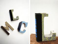 Old Book Crafts — Alphabet Wall Art - Craftfoxes