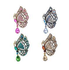 Vintage Butterfly Rhinestone Brooch Pin Pendant Wedding Brooch Fashion Brooch Garment Accessory Gift For Her Vintage Accessory Butterfly Pin
