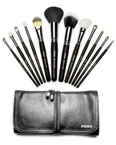 NUNU Makeup Pro Makeup Brush set 12 with Luxury Case ** Details can be found by clicking on the image. (Note:Amazon affiliate link)