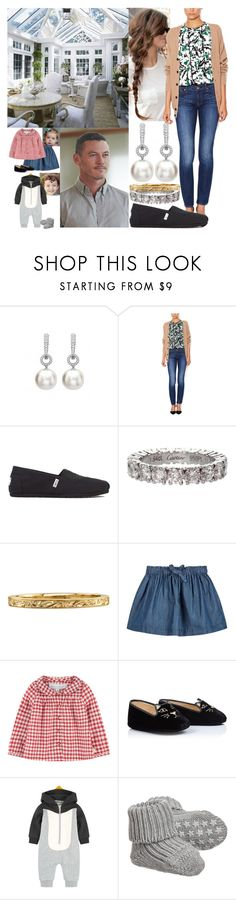 """""""Spending the day with Fred, Ethan and Lily indoors due to the rainfall"""" by marywindsor ❤ liked on Polyvore featuring 7 For All Mankind, TOMS, Cartier, PATH, Tartine et Chocolat, STELLA McCARTNEY and Falke"""