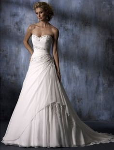 wedding dresses wedding dresses vintage wedding dresses short 2014 style a-line sweetheart court trains sleeveless chiffon wedding dress for brides