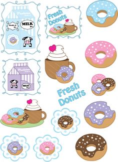 I love these Free Printable kawaii Donut/doughnut Stickers for your planner