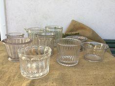 French vintage 9 jam Pots 19th jam jars in antique glassware de la boutique VintagedeFrance sur Etsy