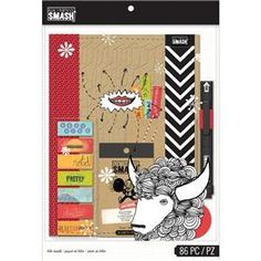 Smash Red Folio Bundle by K & Company - Two Peas in a Bucket Smash Book, Scrapbook Albums, Scrapbook Paper, Sticky Notes, Journal Cards, Journal Ideas, Scrapbooks, Craft Supplies, Office Supplies