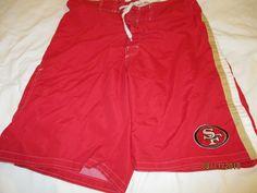 a5d92d08fa8a8 Vintage Old School San Francisco 49ers Swim Trunks Board Shorts NFL Men's  XL #GIII #